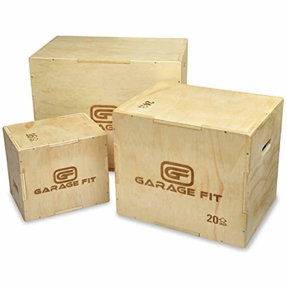 3 in 1 Heavy duty Wooden Plyometric jump Box fitness explosive crossfit