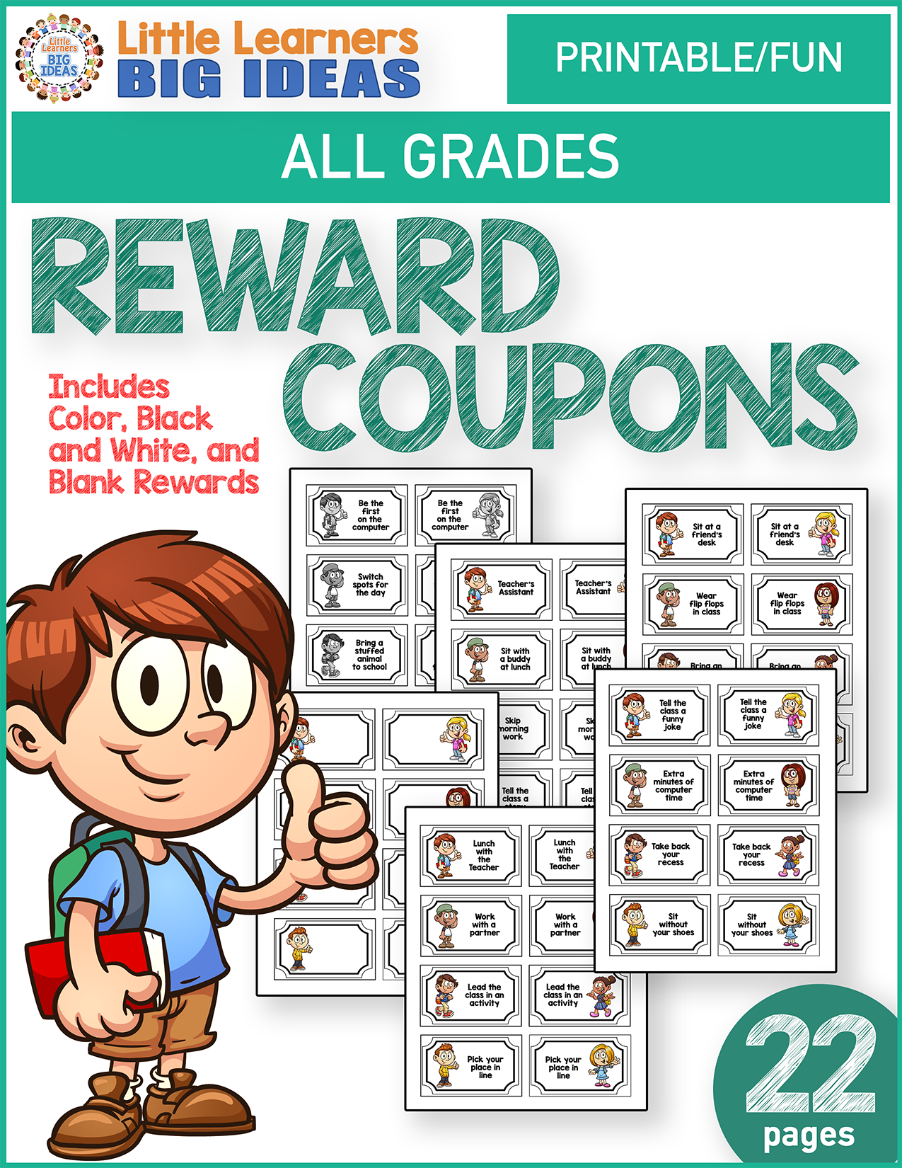 Reward Coupons From Little Learners Big Ideas