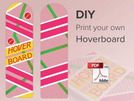 Hoverboard Print At Home Digital Download 300 Dpi
