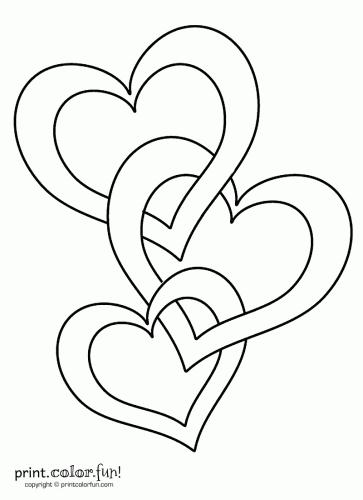 Connected hearts | Dibujos para imprimir | Pinterest | Dibujos para ...