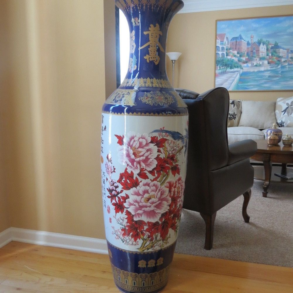 Special Chinese Ceramic Large Floor Standing Vase #China