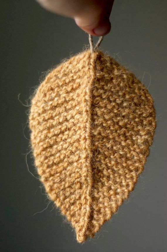 Knitting Pattern Autumn Leaves Leaf Knit Leaves Knitted