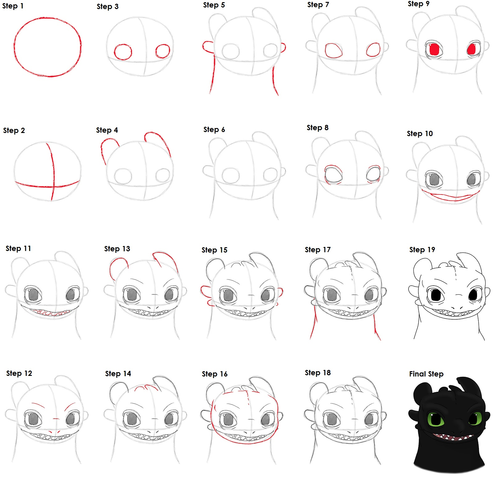 How to draw Toothless 89