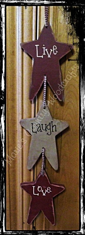 Stars...live laugh love   Wooden sign... & other wall art ...