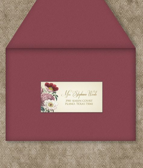 Red Poppy Address Label Template Address Label Template Label