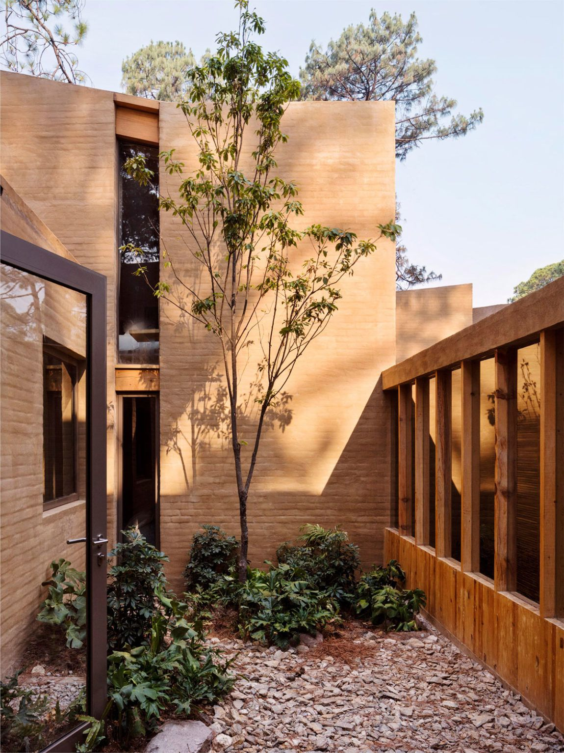 Warm Construction Surrounded by Pine Trees and Made with Local ...