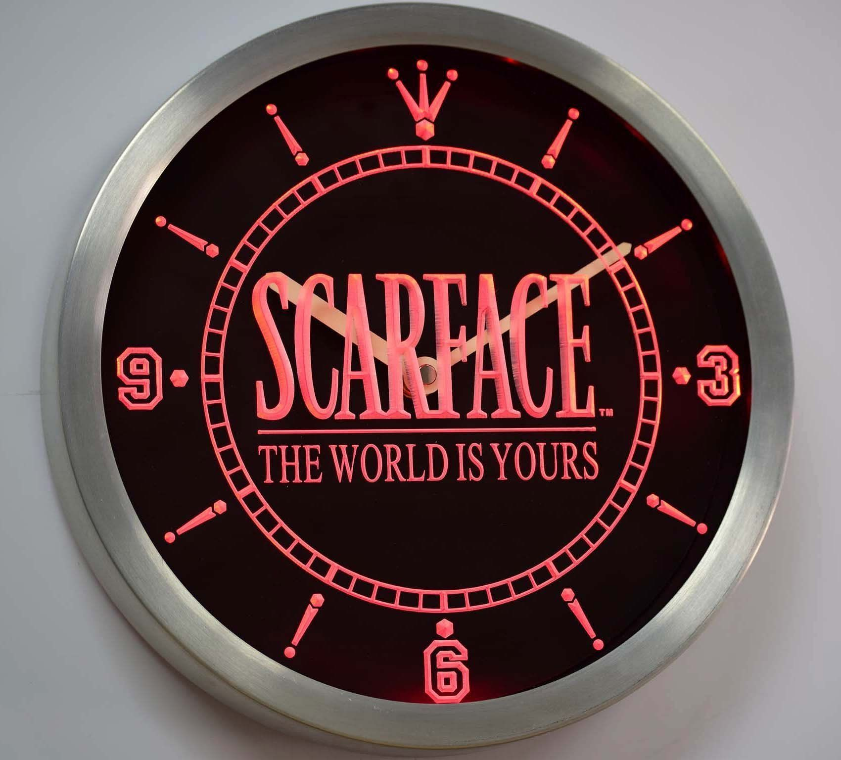 Scarface The World is Yours LED Neon Wall Clock Led wall