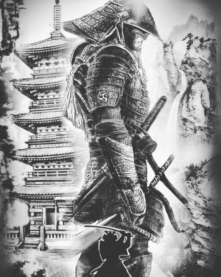 Sammurai Sammurai Temple Japanische Tattoos Japanische Tattoos Vorlagen Samurai Tatowierung