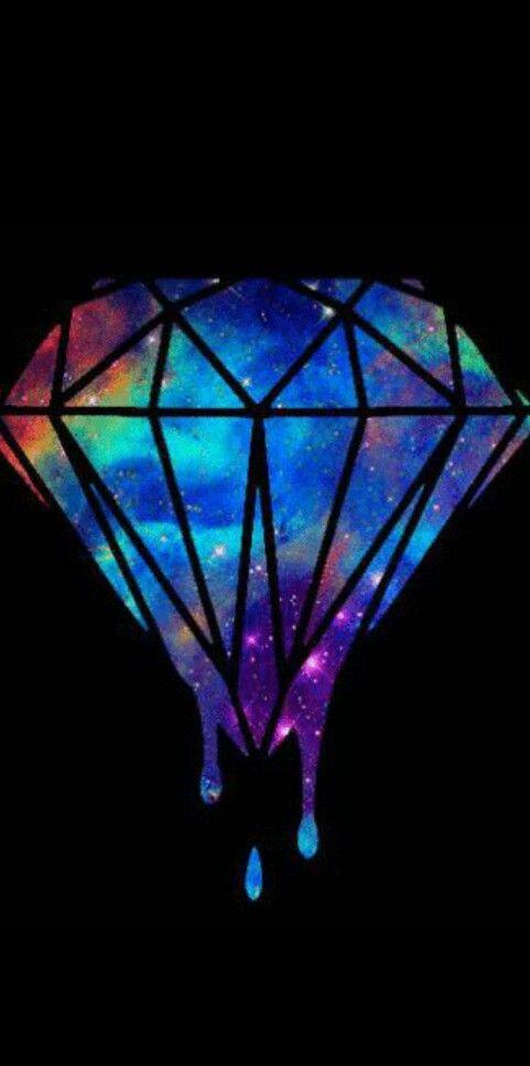 galaxy, wallpaper, and diamond image