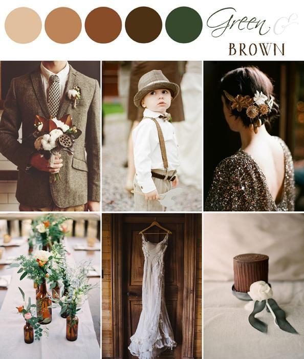 COLOR PALETTE - GREEN & BROWN (The Bride\'s Cafe Blog) | Wedding ...