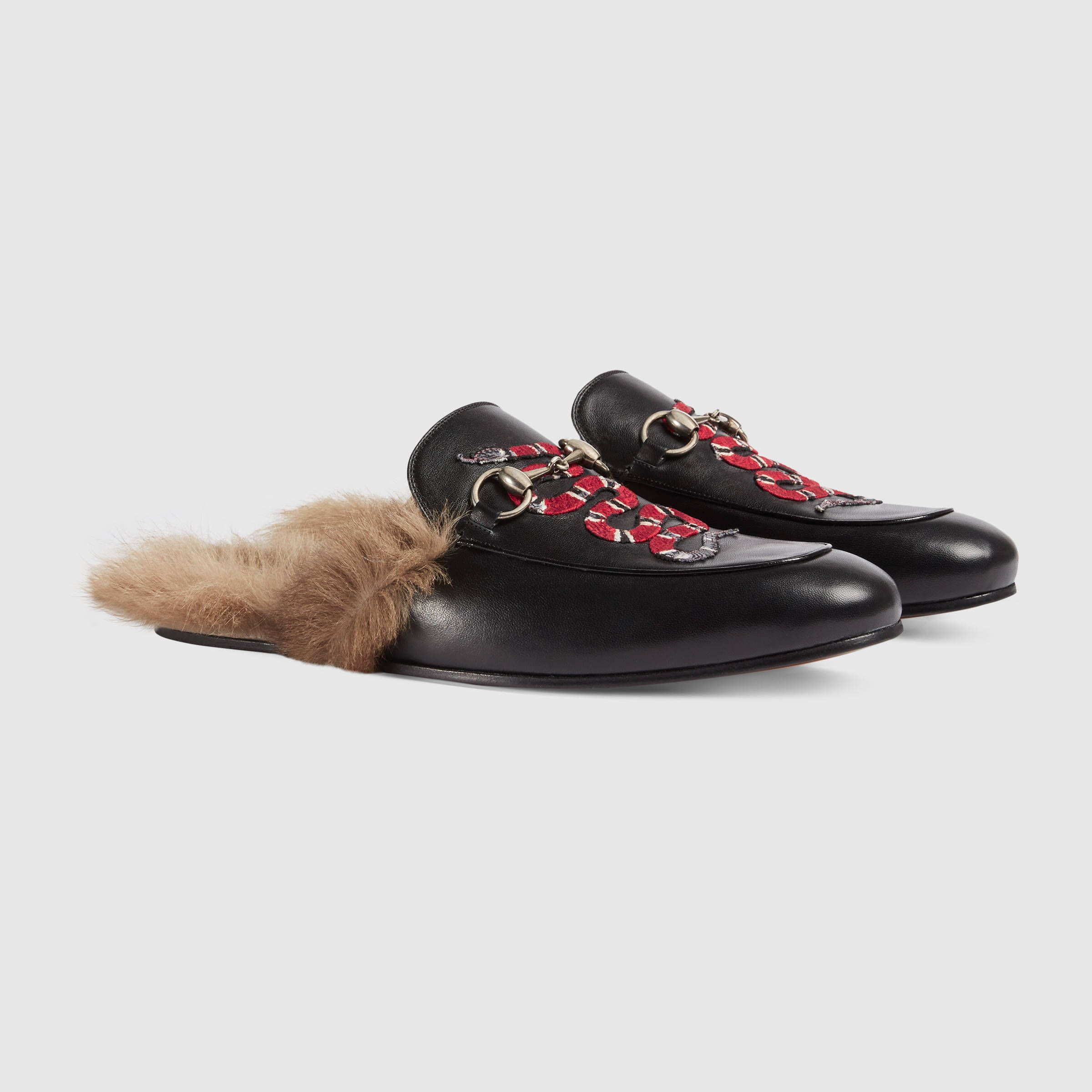 749375810a0 Gucci Men - Princetown leather slipper with snake - 429054DLC501063 ...