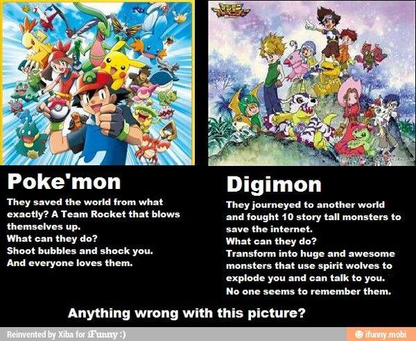 Pin By Hannah Bolton On Digimon Pokemon Vs Digimon Digimon Pokemon Memes