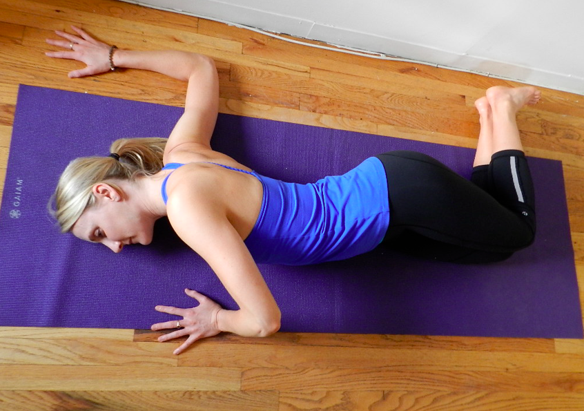 Floor Chest Opener Lay Flat On Your Stomach And Extend Your Arms Out To The Sides In A T Palms Flat Against The Floor Yoga For Runners Yoga Shoulder Yoga