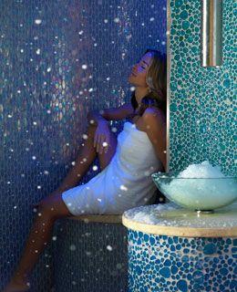 Arctic Ice Room Qua Baths & Spa (www.harrahs.com/qua) at Caesars Palace, in Las Vegas.