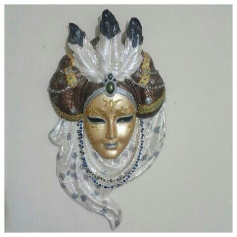 Polyester Alçıdan Maske Boyama Polyester Venetian Masks