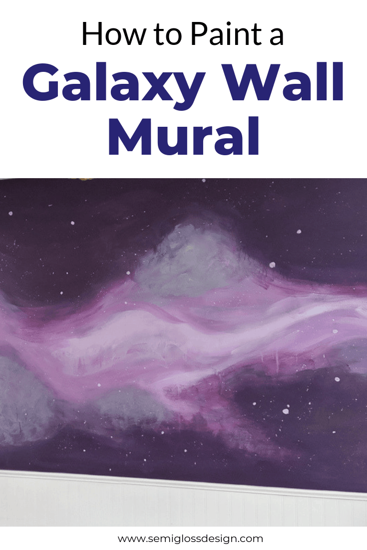 How To Paint A Diy Galaxy Wall Mural Murals Painting