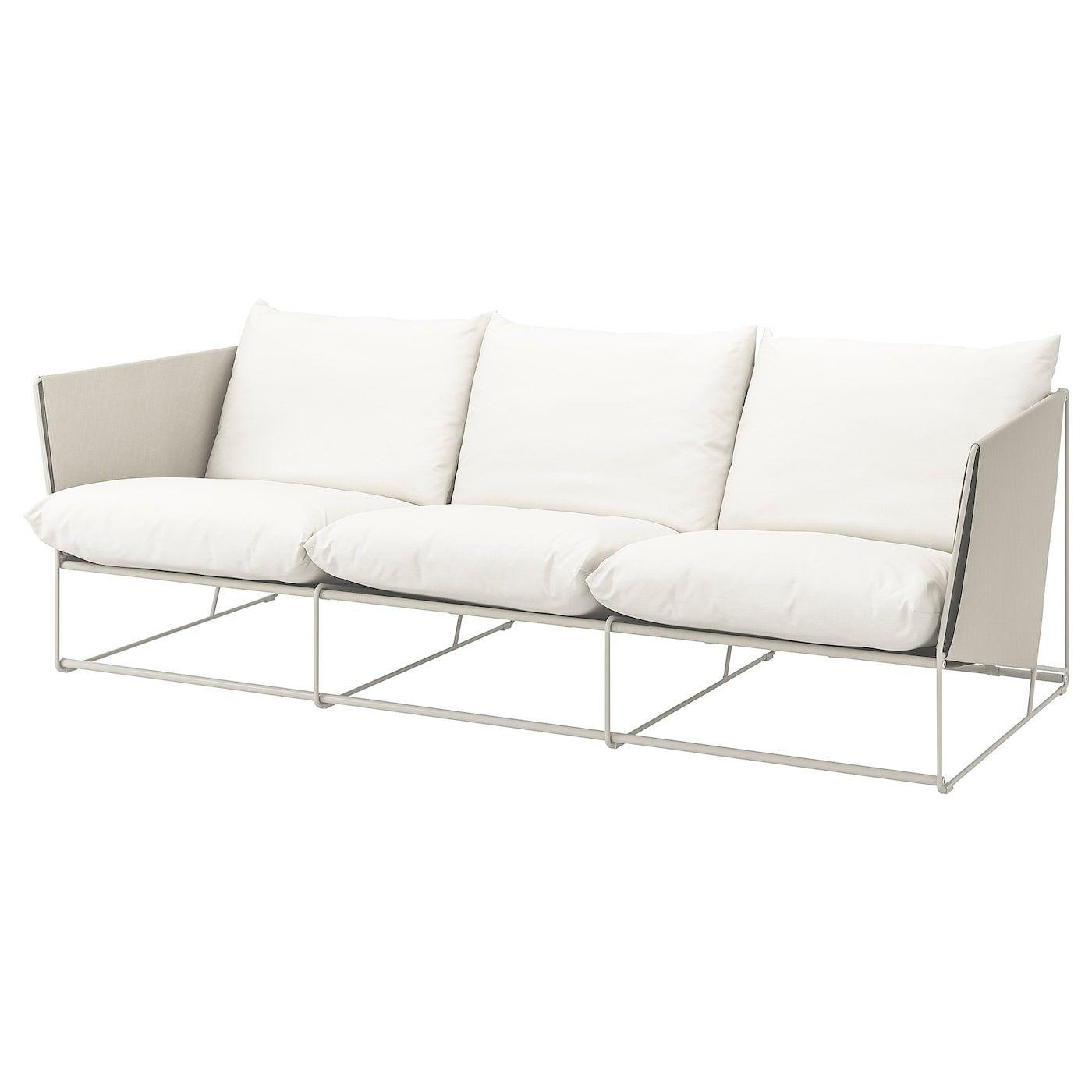 Havsten 3er Sofa Drinnen Draussen Beige Ikea Deutschland 3er Sofa Sofa Kissen Sofa
