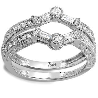14k White Gold 1 2ct Tdw Diamond Engagement Ring Enhancer Guard H I I1