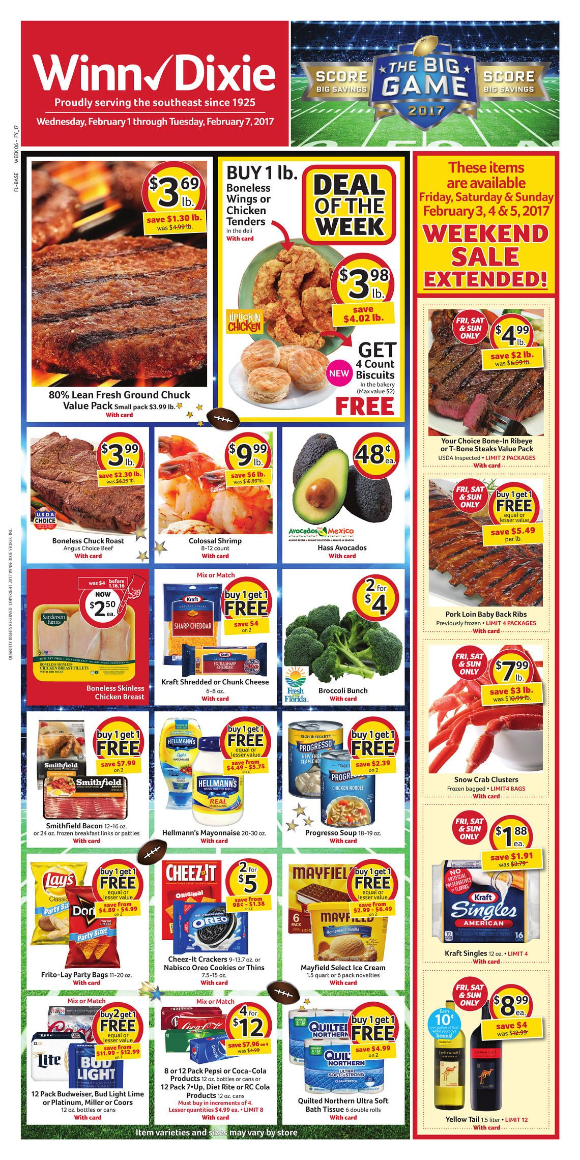 Winn Dixie Weekly Ad February 1 7 2017 httpwwwolcatalogcom