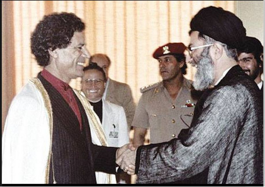 Iran S Supreme Leader Ali Khamenei With Colonel Muammar Gaddafi In