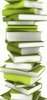 Stapel boeken, lente kleuren