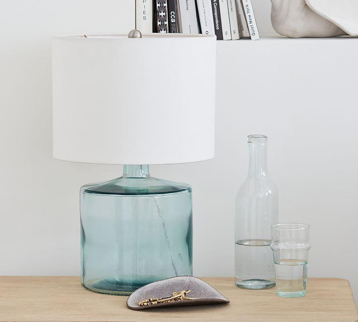 Mallorca Table Lamp Base Recycled Glass Base Glass Lamp Mallorca Recycled Table Table Lamp Base Table Lamp Glass Table Lamp