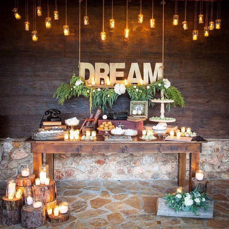 Outside Wedding Food Ideas: 26 Inspiring Chic Wedding Food & Dessert Table Display