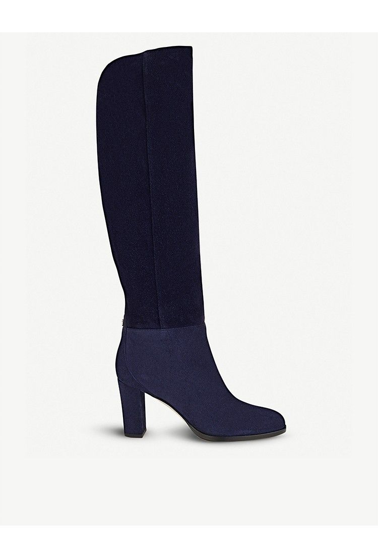 2246c37a3b9 JIMMY CHOO - Madalie 80 suede knee high boots