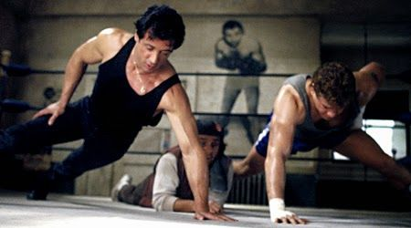 Rocky V (1990)   Rocky Balboa (Sylvester Stallone) trains Tommy Gunn (Tommy…