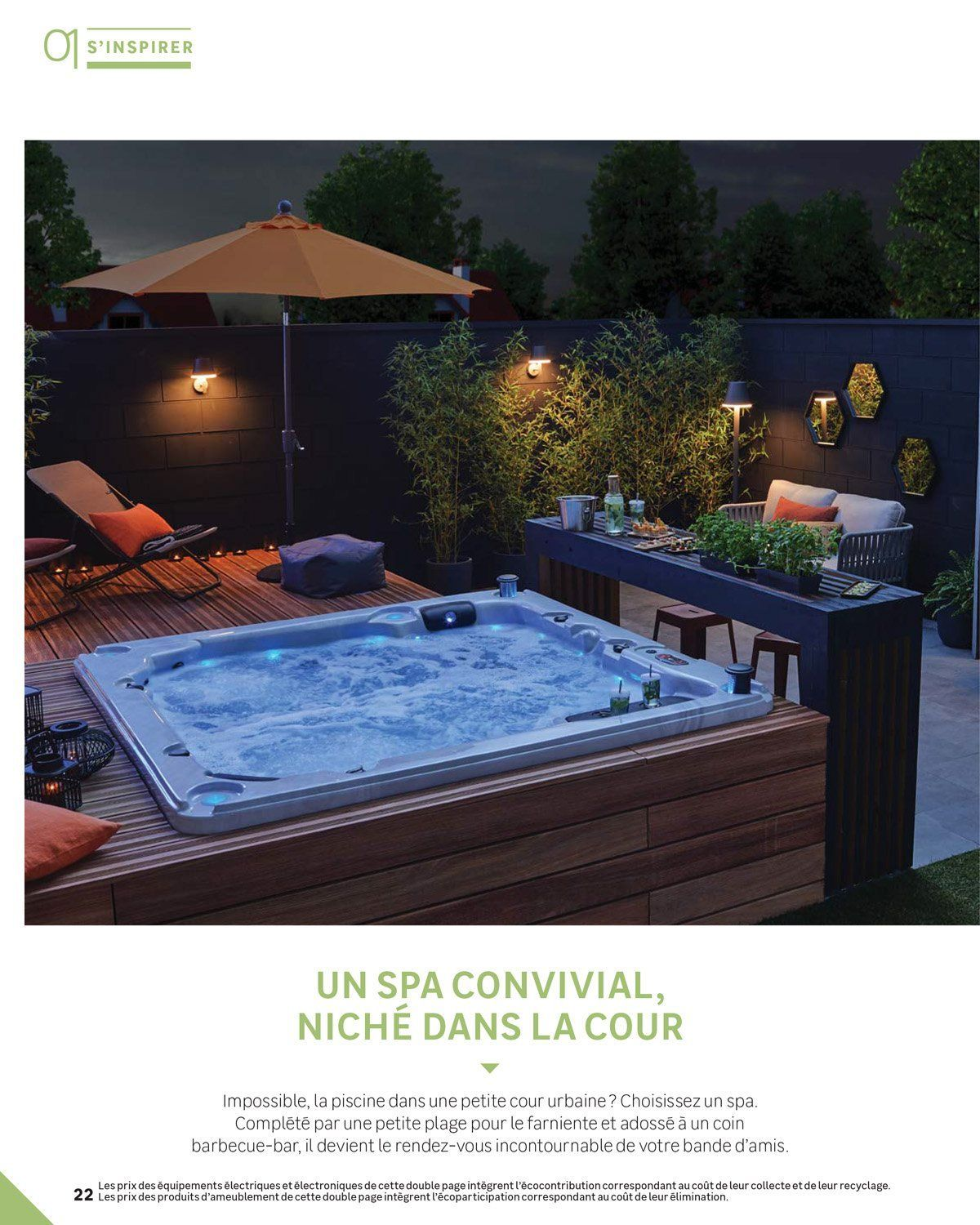 Guide Jardin 2018 Backpatio In 2020 Hot Tub Patio Hot Tub