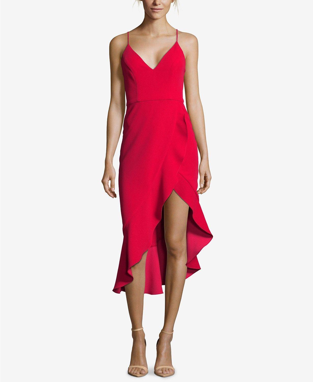 f4bfb6aebff XSCAPE Ruffled High-Low Dress - Dresses - Women - Macy's | Dress Me ...