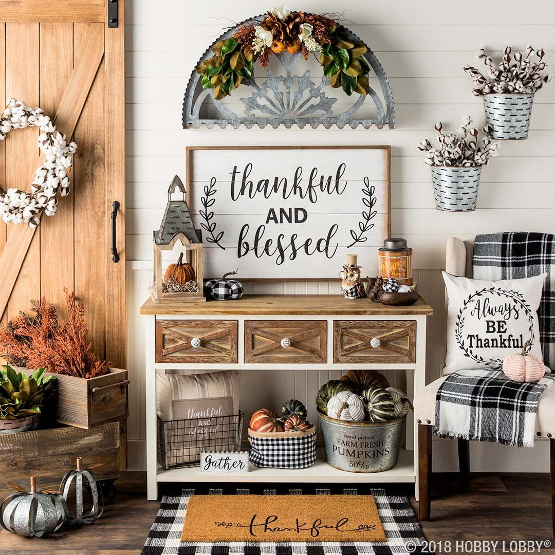 Update Your Decor For Fall With Pumpkins And Plaid Decor Home