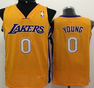 ... Los Angeles Lakers Jersey 0 Nick Young Yellow Swingman Jerseys ... ce9460aa8