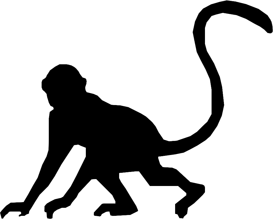 Monkey silhouette png - photo#51