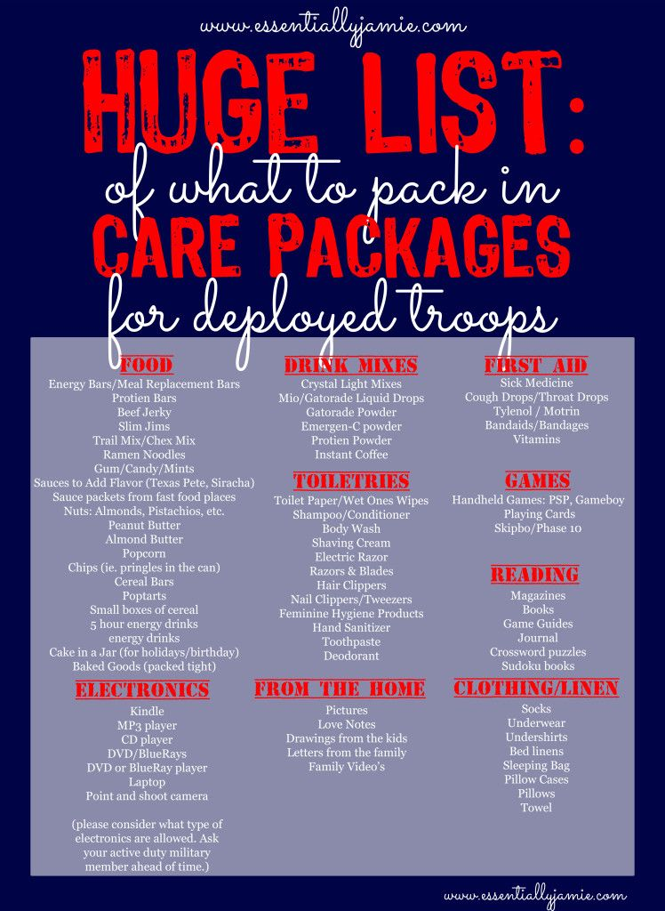 What To Pack In A Carepackage For Troops Army Care Package Soldier Care Packages Military Care Package