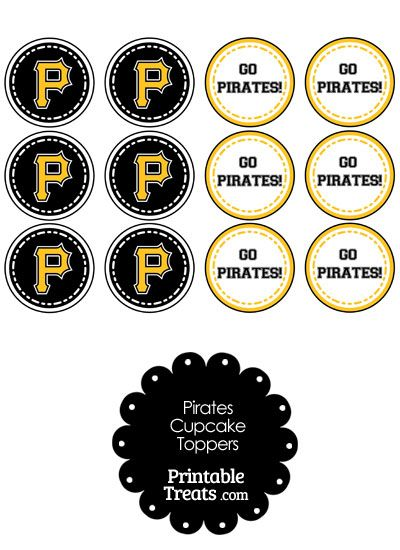 pittsburgh pirates cupcake toppers from printabletreats.com ... - Pittsburgh Pirates Coloring Pages