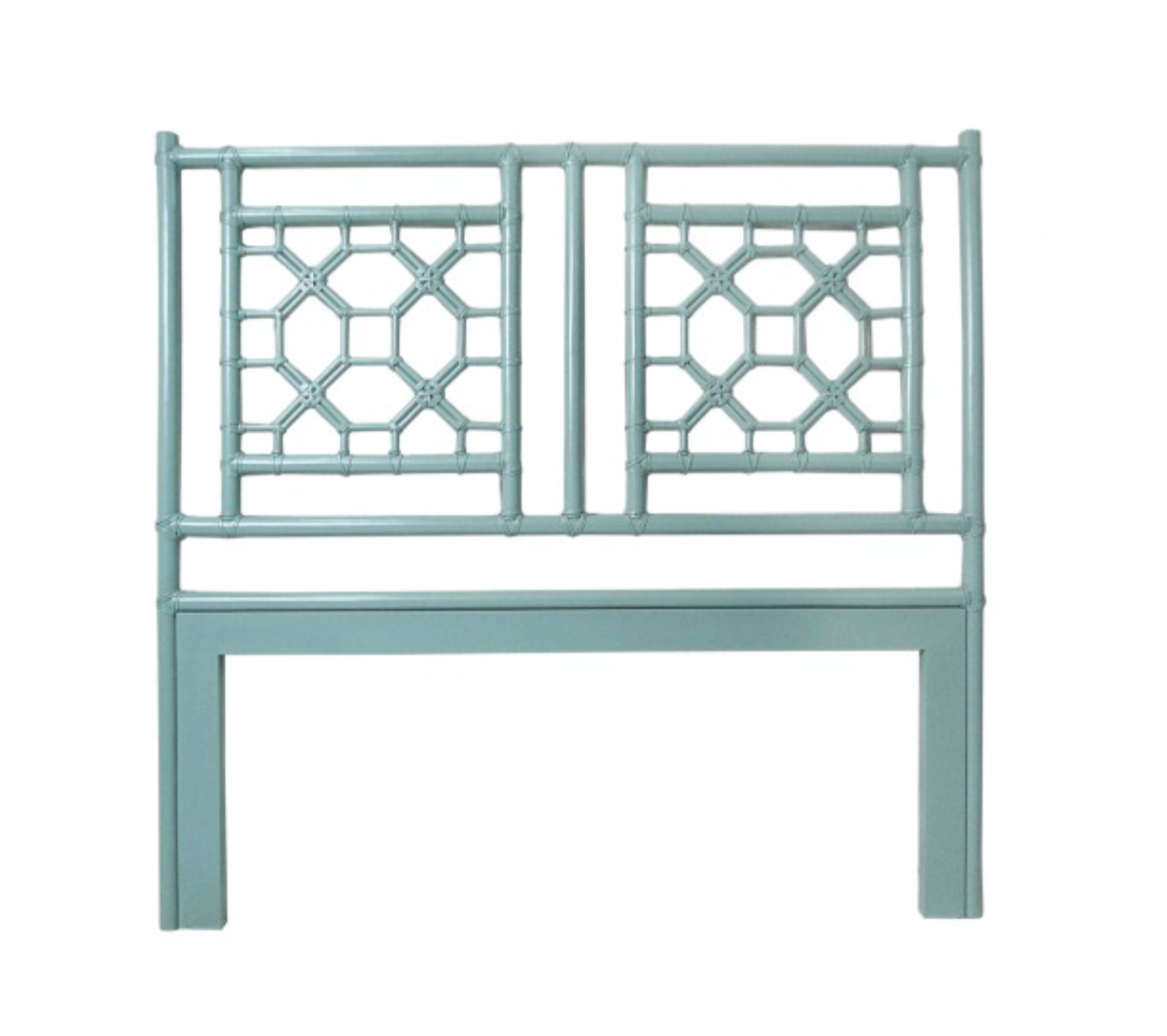 Lattice Headboard In Sky Blue Email For Details Figlinensandhome Gmail Com Open Frame Headboard Lattice Headboard Rattan Headboard