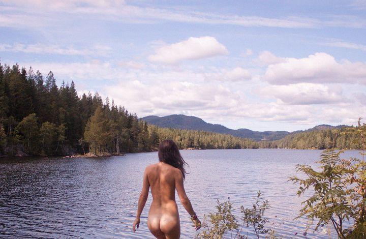 old woman naturist
