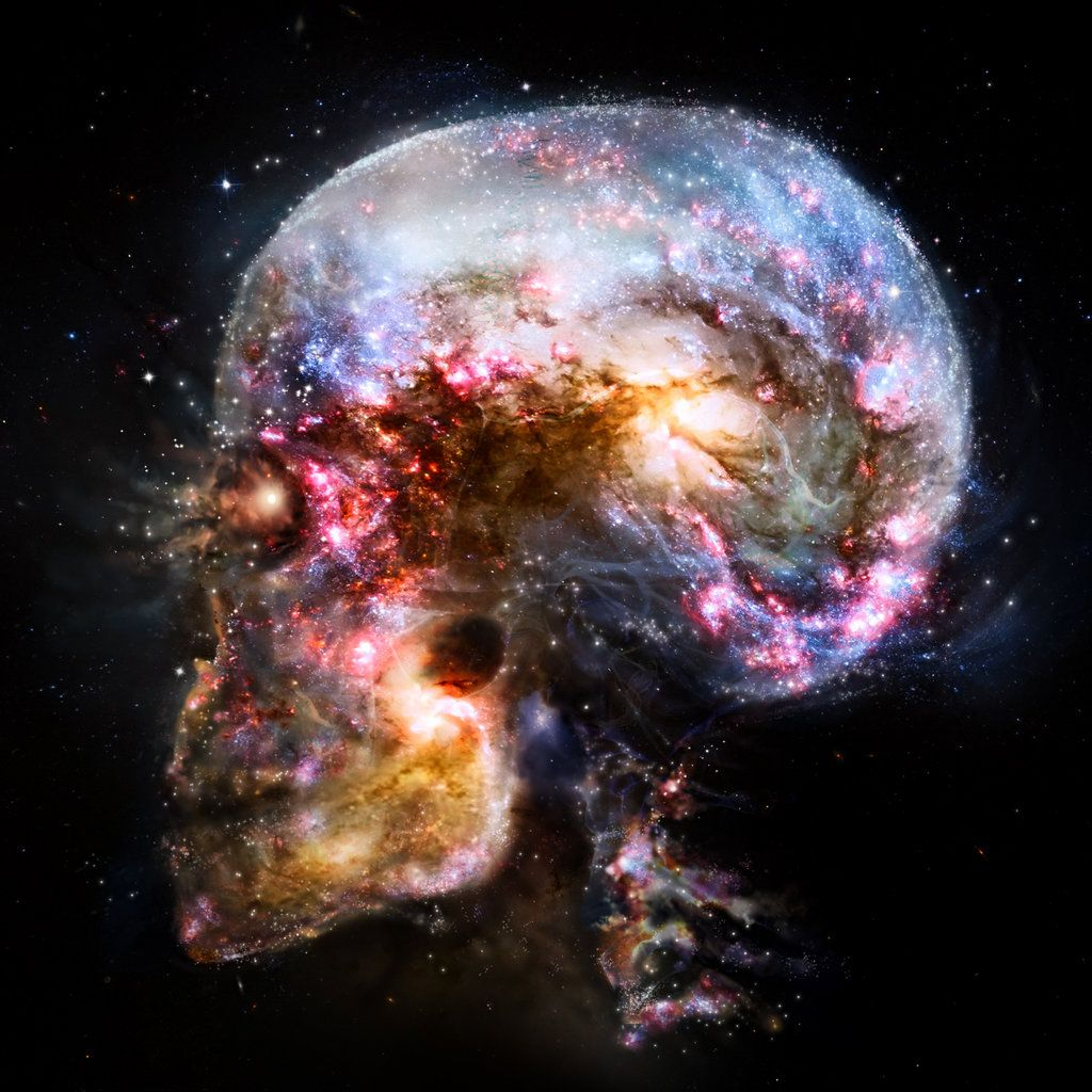 The universe is within us, eh what, me matey. Pirates and skulls. Arrgggh!