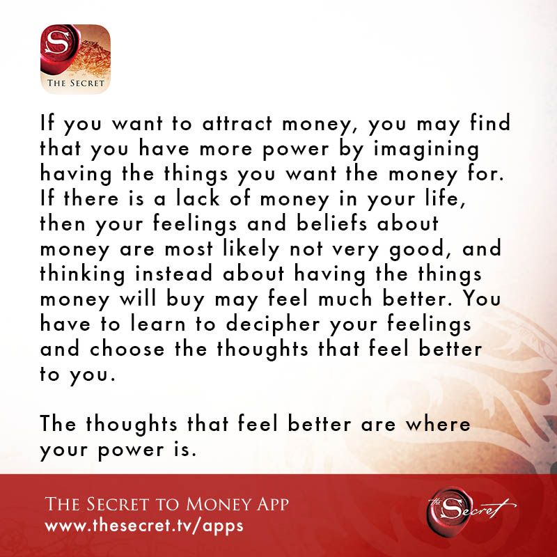 i want to attract money