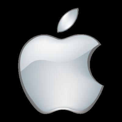 apple logo white vector. apple 3d logo vector white e
