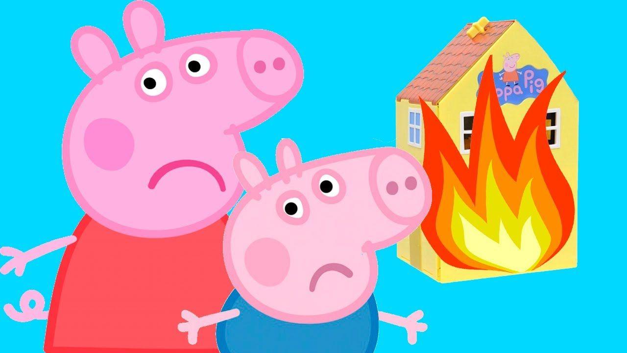 Свинка Пеппа Мультик Для Детей и Джордж устроили пожар в ...