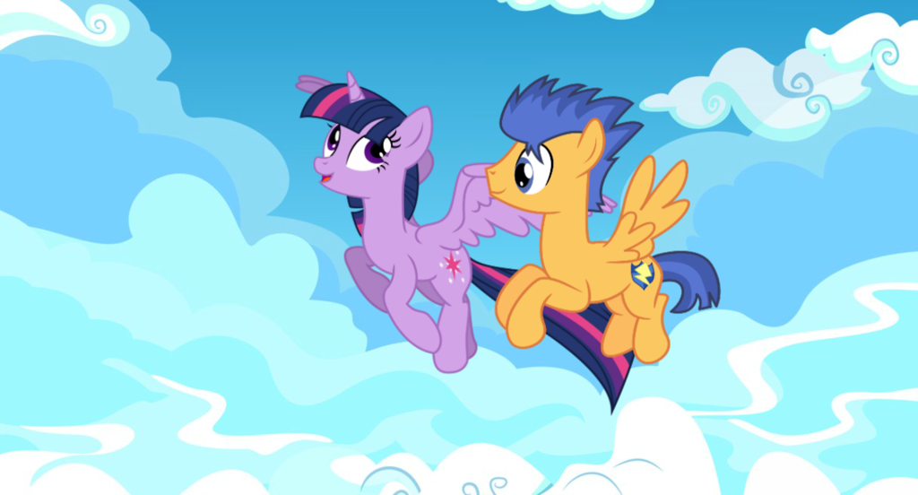 Twilight Sparkle And Flash Sentry Flying Together By Eunjinshin On