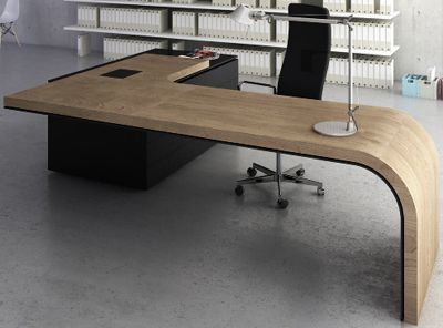 Modern designed md tables director tables and manager tables reception office pinterest for Table bureau design