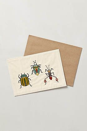 Embroidered Critters Card | Anthro