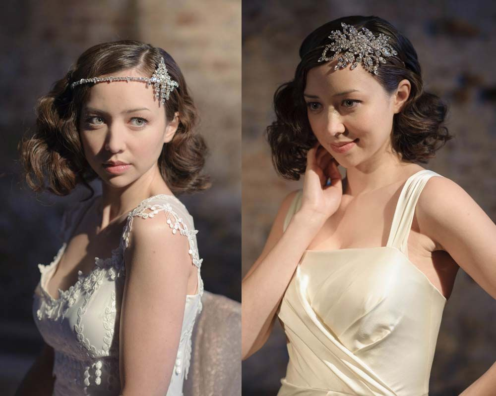 1920s wedding hair accessories from Jo Barnes Vintage