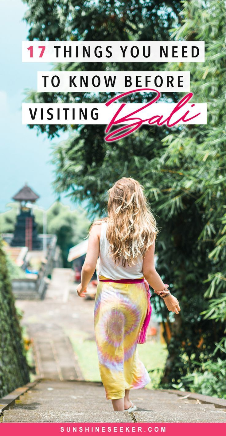 17 important things you need to know before visiting Bali, Indonesia. Read about visa laws, transport, drinking water, ATMs, the culture, stray animals, what to stay away from and so much more!