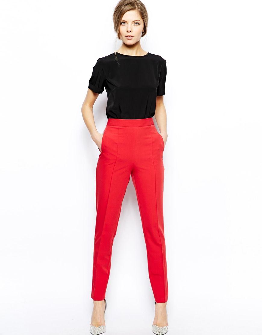 ASOS   ASOS Trousers With High Waist at ASOS   01   Pinterest ... 509d669f3d1f