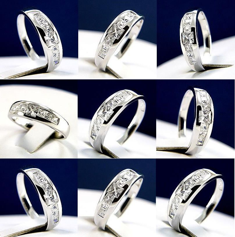 1.21 carat Clear CZ Mens 925 Sterling Silver Wedding band #InterStoreJewelry