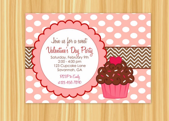 Custom Printable Cupcake Theme ValentineS By Thepapergiraffeshop